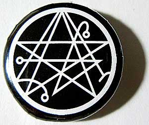 Necronomicon elder sign sigil pin