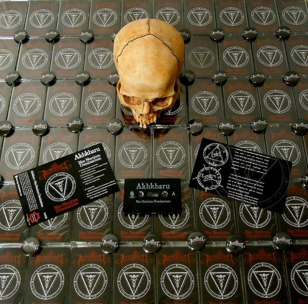 Akhkharu - Nos Noctium Dominarium Cassette dark ambient ritual black ambient horror atmosphere dark age productions