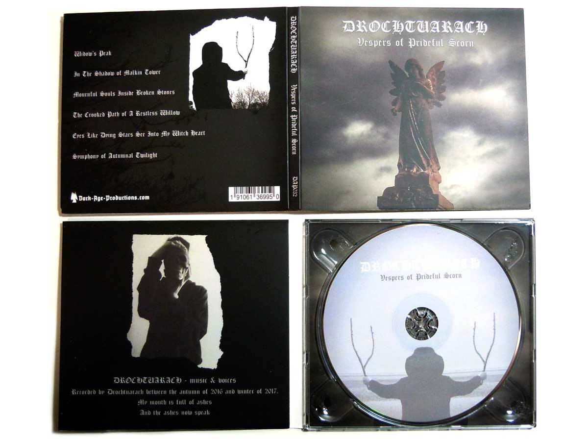 Drochtuarch- Vespers of Prideful Scorn CD medieval dungeon synth dark age productions