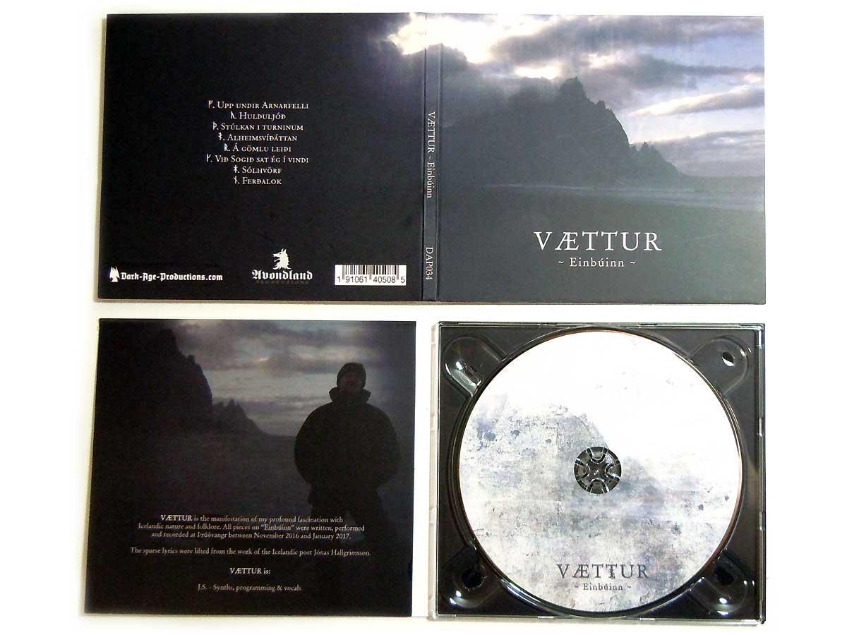 Vaettur - Einbuinn CD icelandic folklore neoclassical dark ambient dark age productions
