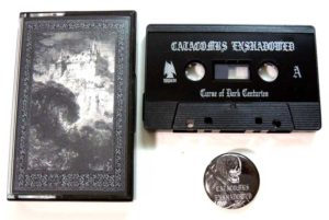 Catacombs Enshadowed - Curse of Dark Centuries Cassette & Pin old school dungeon synth dark ambient black metal dark age productions