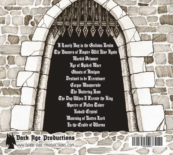 Carnifexian CD back cover dungeon synth
