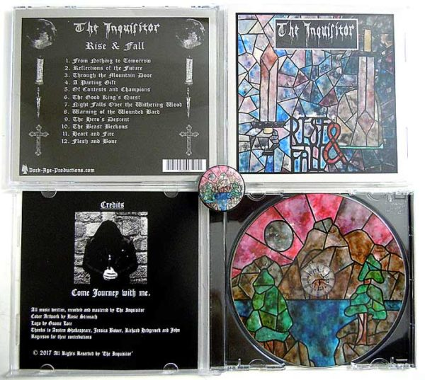 The Inquisitor - Rise and Fall CD package medieval dungeon synth