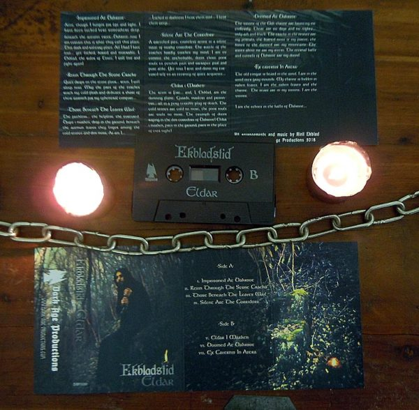 Ekbladstid - Eldar Cassette package medieval dark ambient dungeon synth