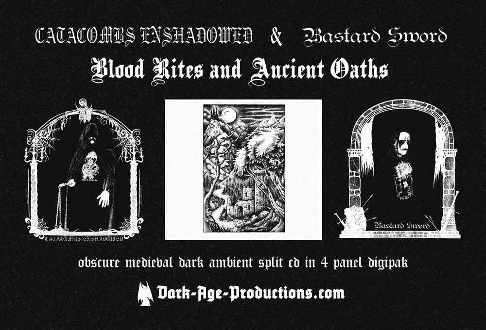 Catacombs Enshadowe and Bastard Sword split CD dark ambient dungeon synth