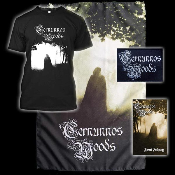 Cernunnos Woods shirt flag cassette bundle dungeon synth black metal dark ambient