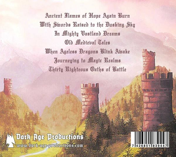 Sequestered Keep Vale of ruined towers CD back dungeon synth