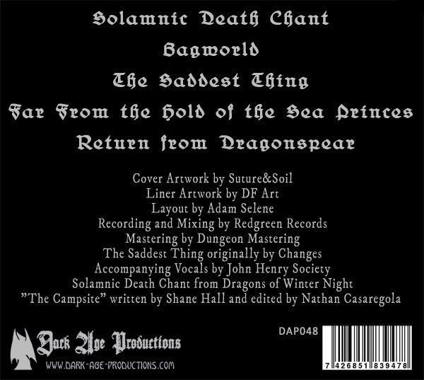 Sombre Arcane CD back cover dungeon synth dark ambient