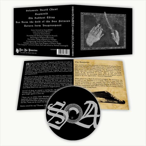 Sombre Arcane CD package dark ambient dungeon synth