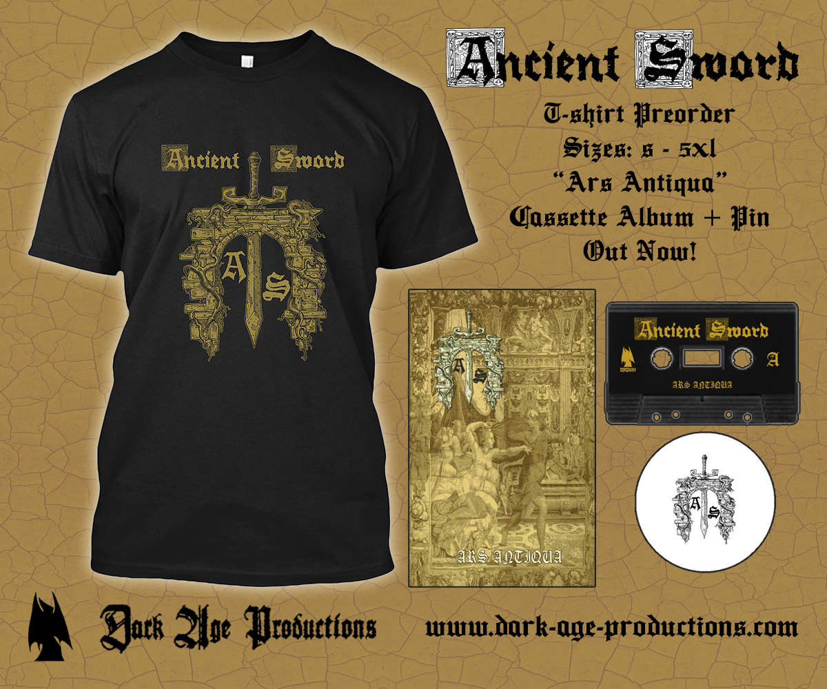 Ancient Sword Logo Tshirt flier dungeon synth dark age productions