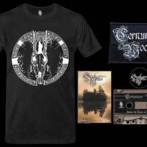 Cernunnos Woods - Awaken the Empire of Dark Wood Cassette Tshirt bundle