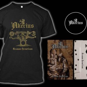 Akerius - Arcanum Hermeticum Cassette Tshirt Bundle dungeon synth dark age productions