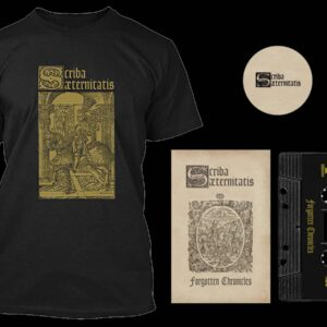Scriba Aeternitatis - Forgotten Chronicles Cassette Tshirt Bundle dungeon synth dark age productions