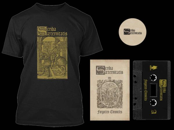 Scriba Aeternitatis - Forgotten Chronicles Cassette Tshirt Bundle dungeon synth dark age productions