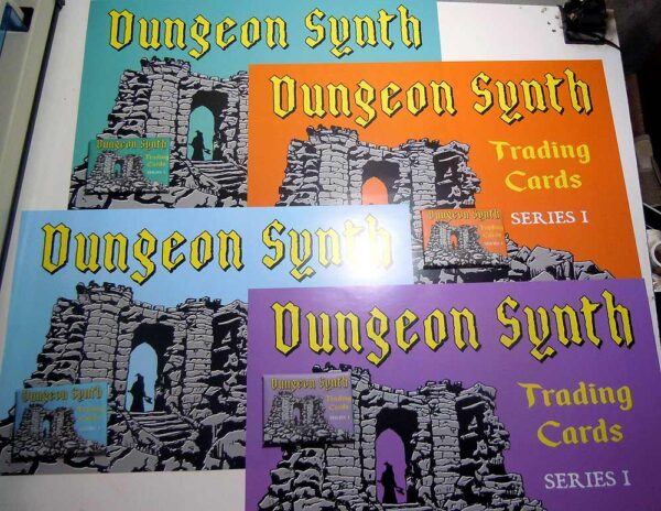 Dungeon Synth Cards Series 1 variant posters and wrappers