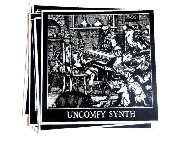 Uncomfy Synth Sticker dark age productions