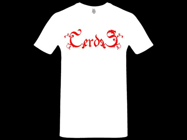 Cerdes - Logo T-shirt White dungeon synth dark age productions