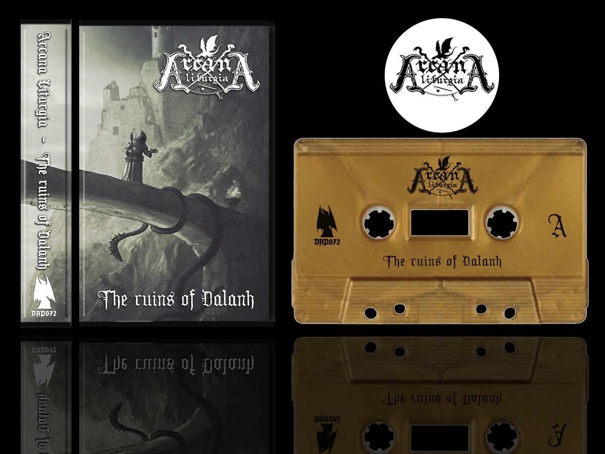 Arcana Liturgia - Ruins of Dalanh Cassette Tape dungeon synth dark age productions